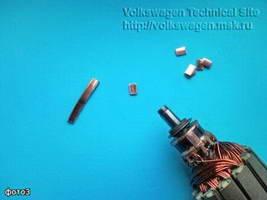 Ремонт коллектора электродвигателя печки